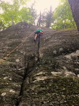 rock climbing, north carolina