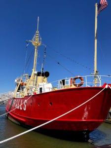 Lightship boat, lewes delaware