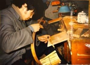 Wood fan factory, China