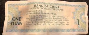Tourist Money China