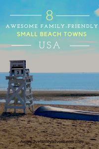 Family friendly small beach towns USA