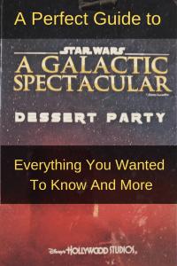 Star Wars Dessert Party Disney World