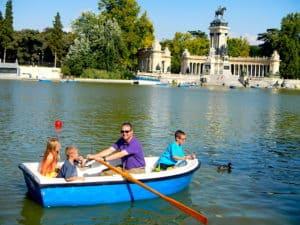 Retiro Park Boats, Madrid Spain