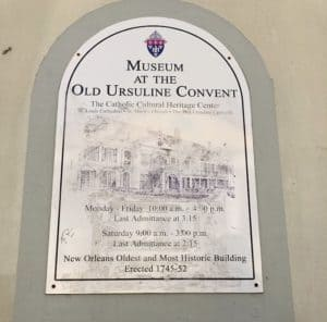 New Orleans, Ursuline Covenant