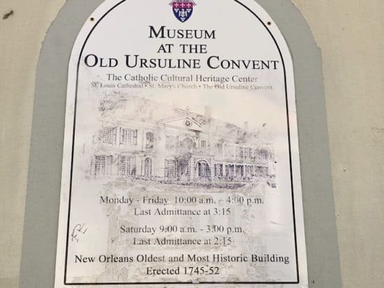 New Orleans, Ursuline Covenant