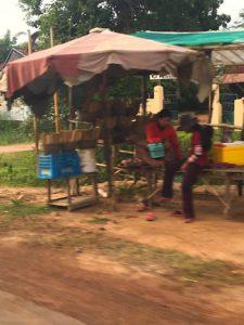 sugar cane stands, Cambodia