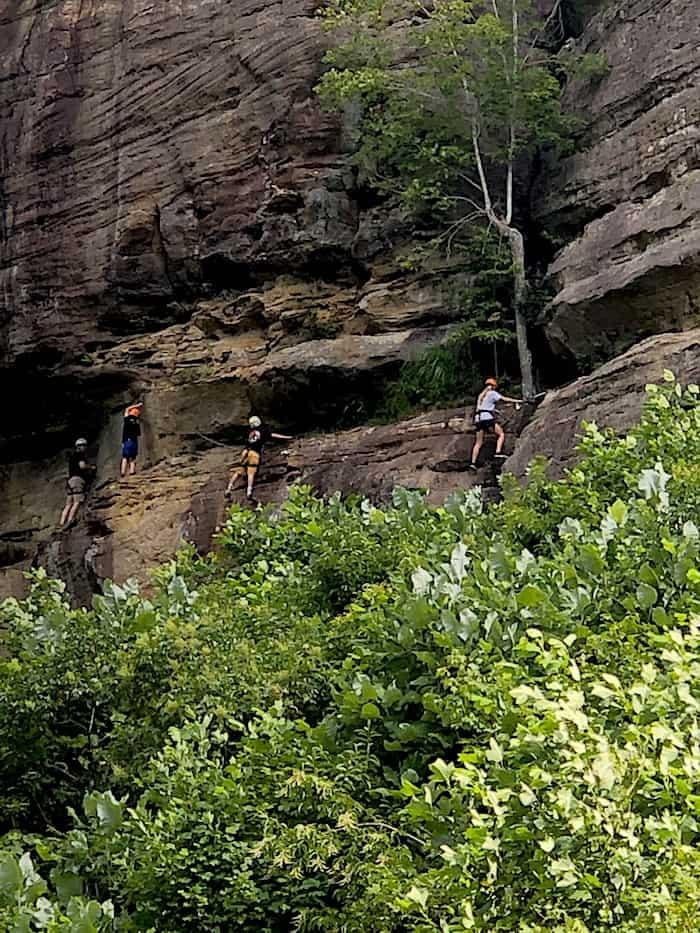 Via ferrata Red River Gorge, Kentucky