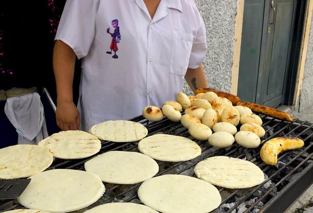 Local Cuisine, Arepa Paisa Columbia