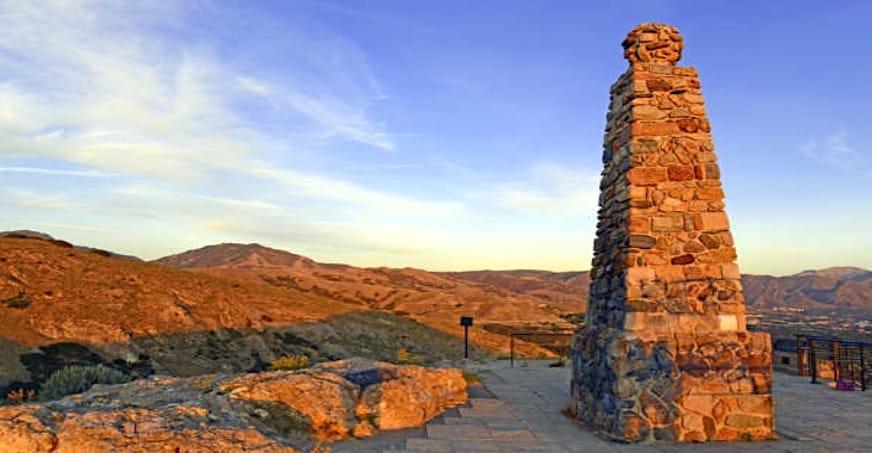 view of Ensign Peak in Utah