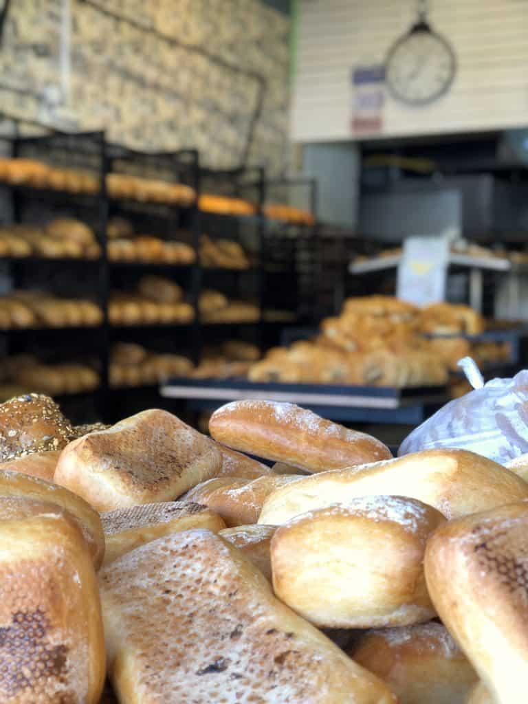 Bread displayed at Shuk Carmel in Tel Aviv, Israel