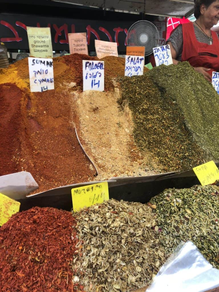 Spice stall at Shuk Carmel, Tel Aviv Israel