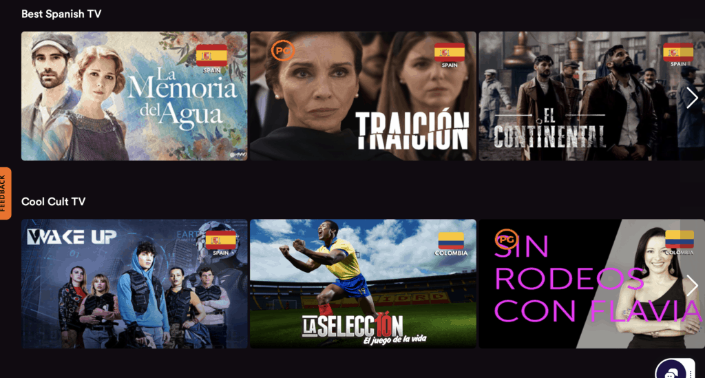 Language Learning app showing movie options