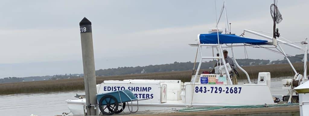 small shrimp boat in South Carolina