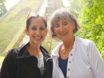 mom and daughter at Tikal