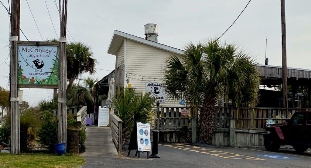 Beach shack restaurant on Edisto Island