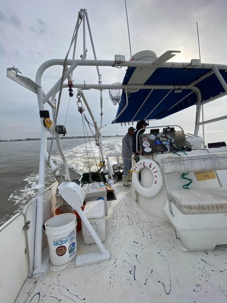 interior of the shrimp boat